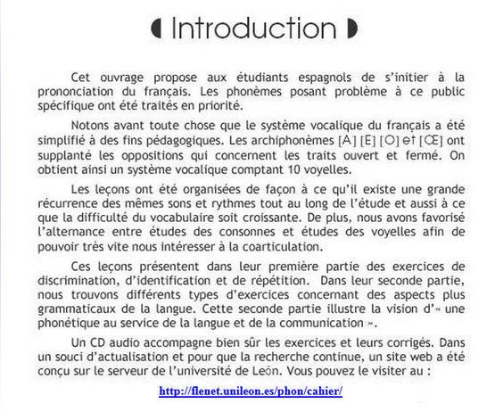 cahier de prononciation française, phonétique FLE ...