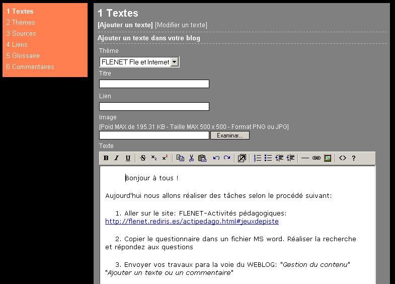 Carnet web weblogs enseignement applications en classe for Fenetre qui s ouvre